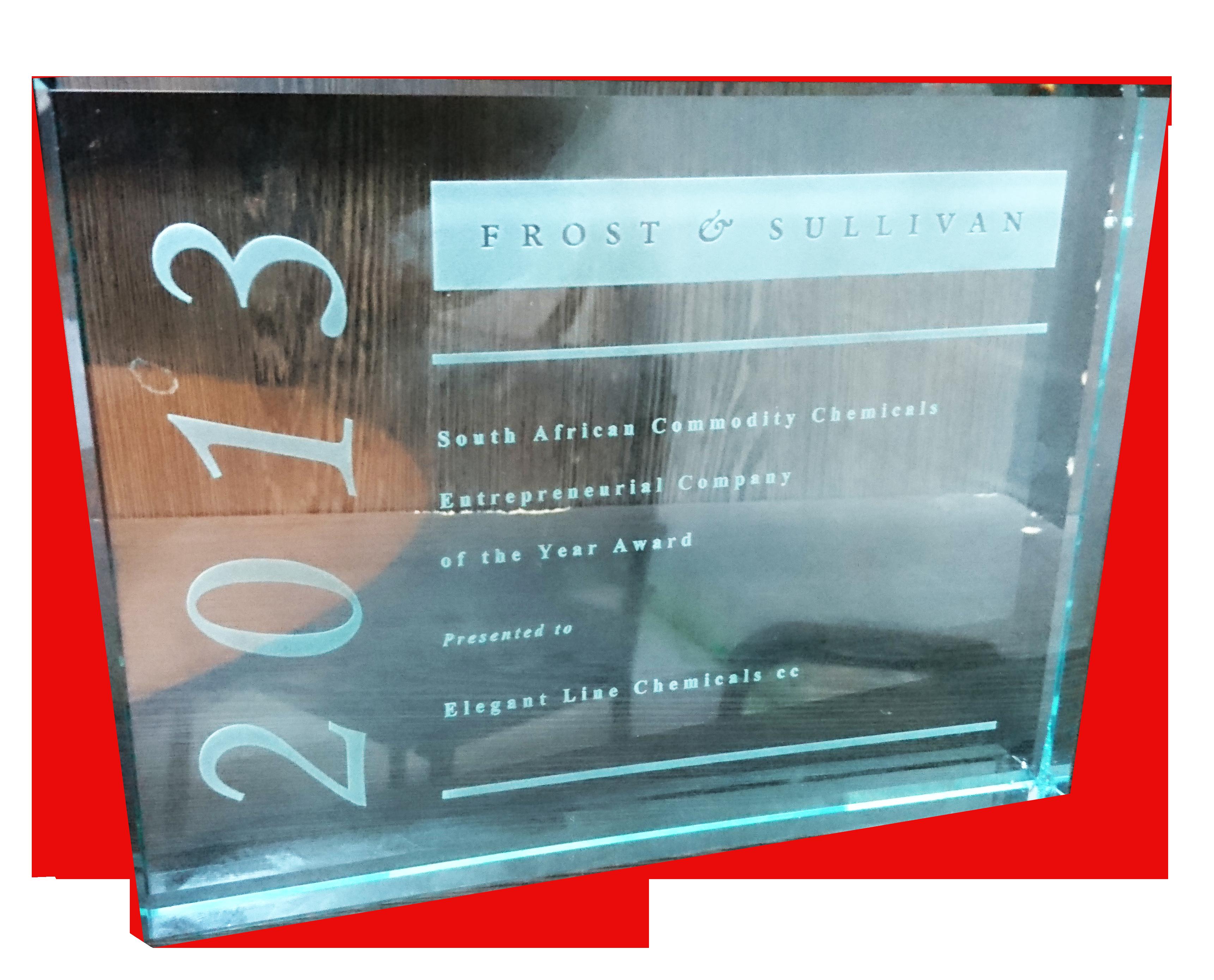 Frost & Sullivan Award in 2013